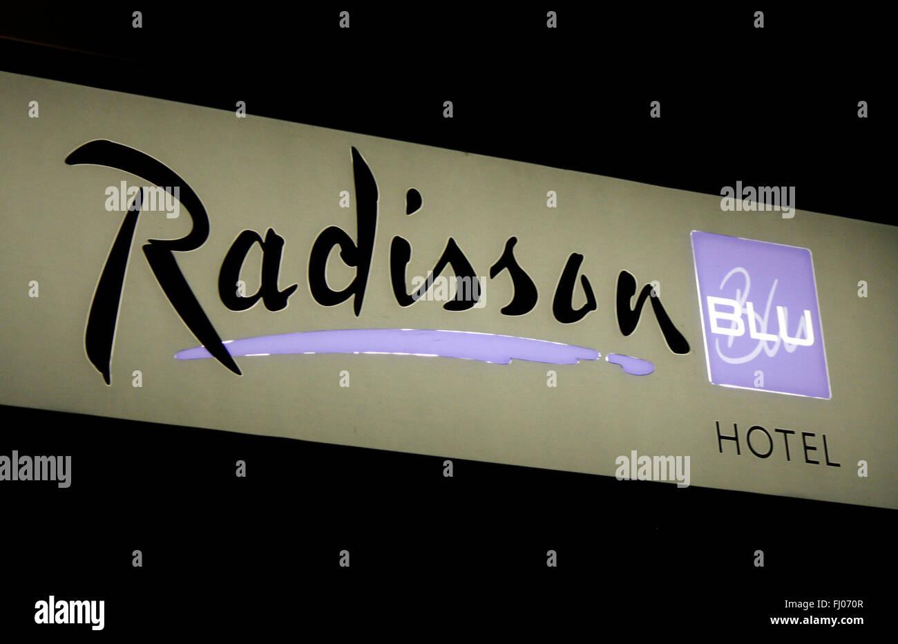 Markenname: 'Radisson', Berlin. - Stock Image