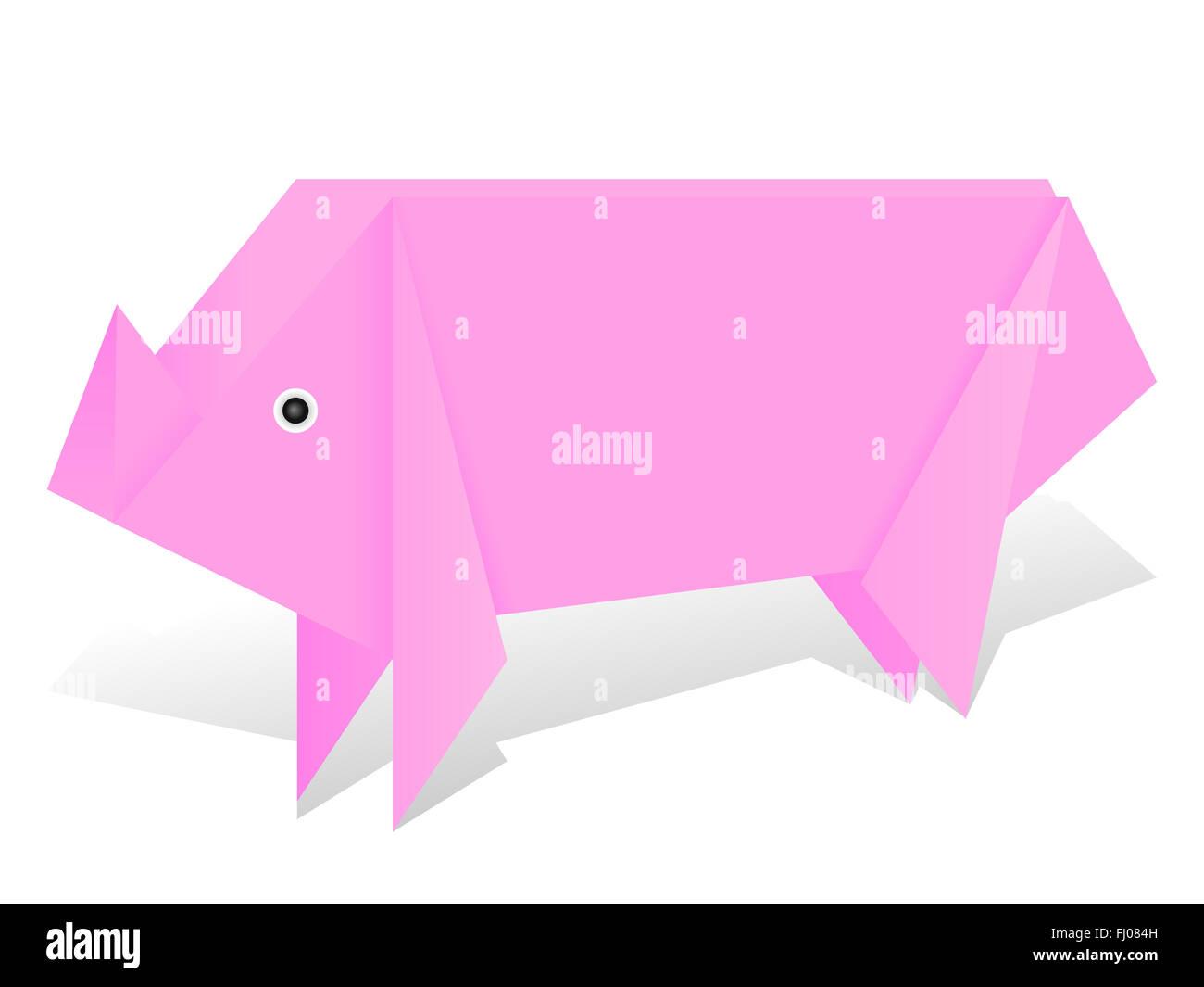 Origami, pig. Machen, pig., wie, treten, origami, anweisungen. | 1064x1300