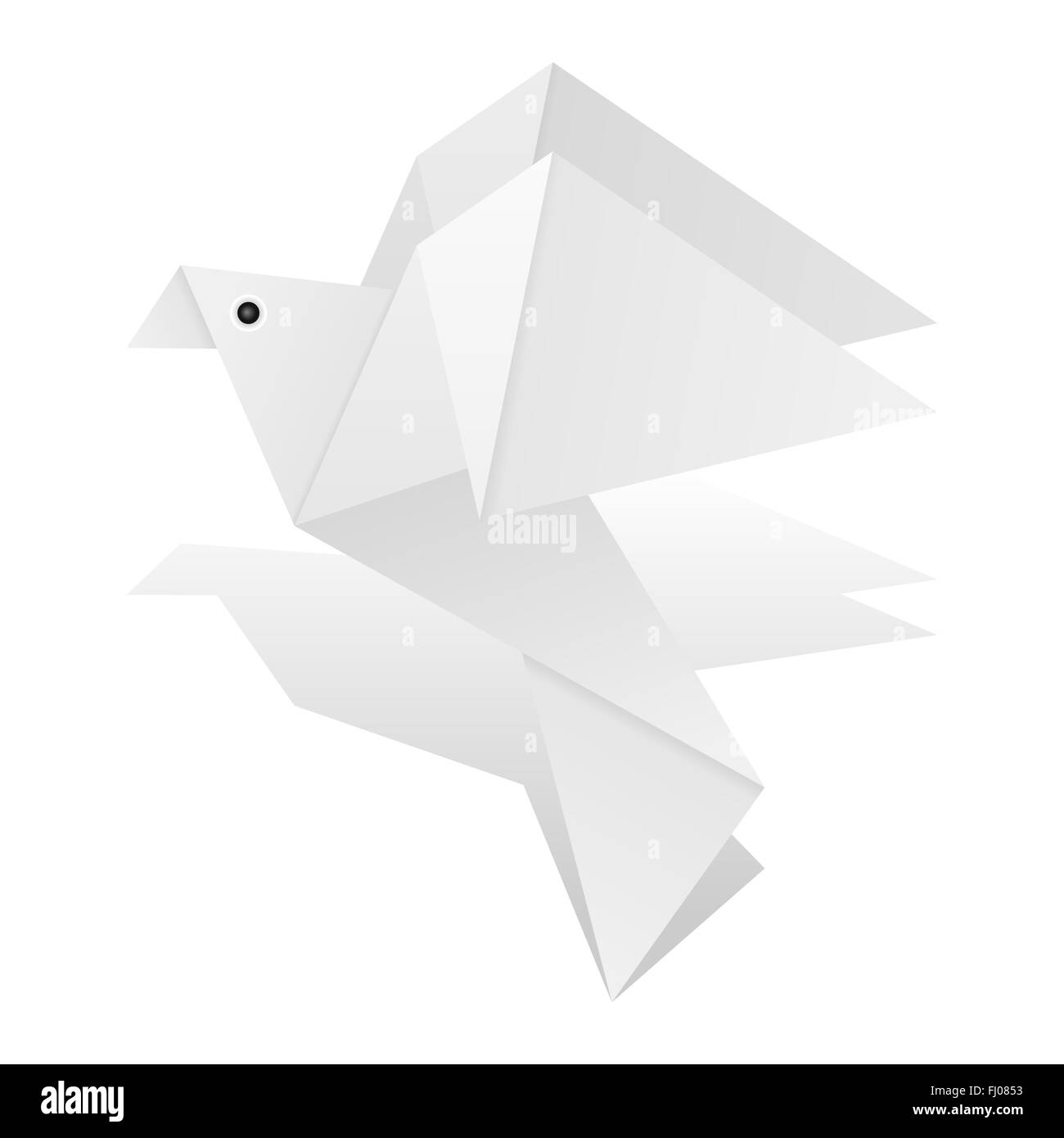 Origami Dove On A White Background