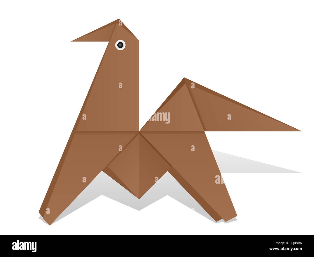 Origami Horse On A White Background