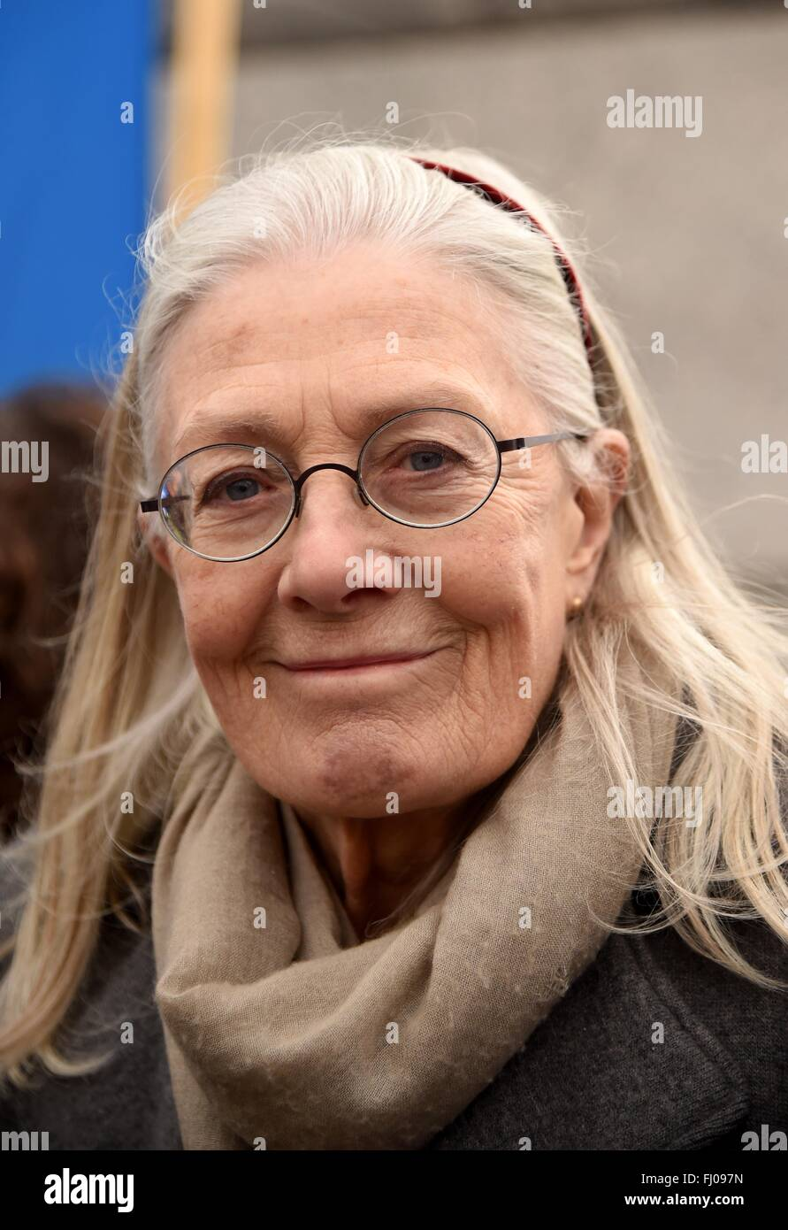 Vanessa Redgrave actor at CND Anti Trident Protest, London, UK - Stock Image