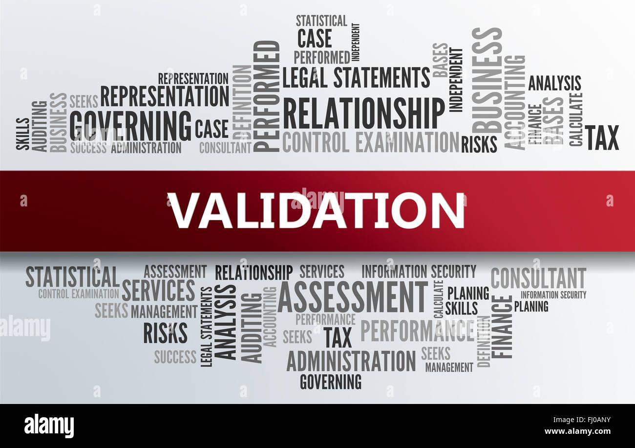 Validation - Stock Image