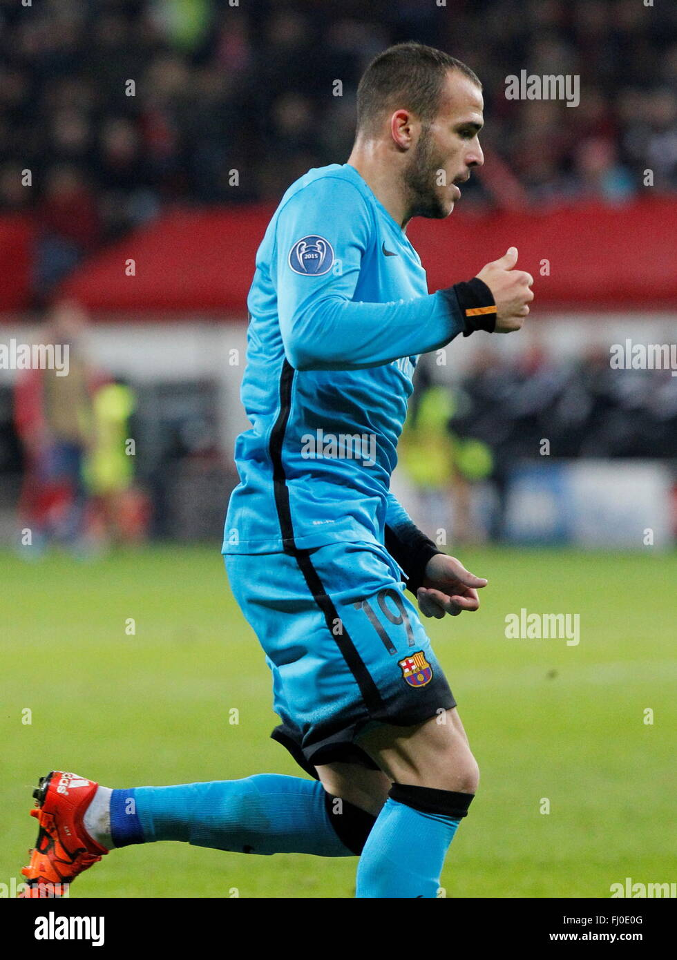 Sandro Ramírez during the champion league match Bayer Leverkusen - FC Barcelona December 9, 2015 in the Bay - Stock Image