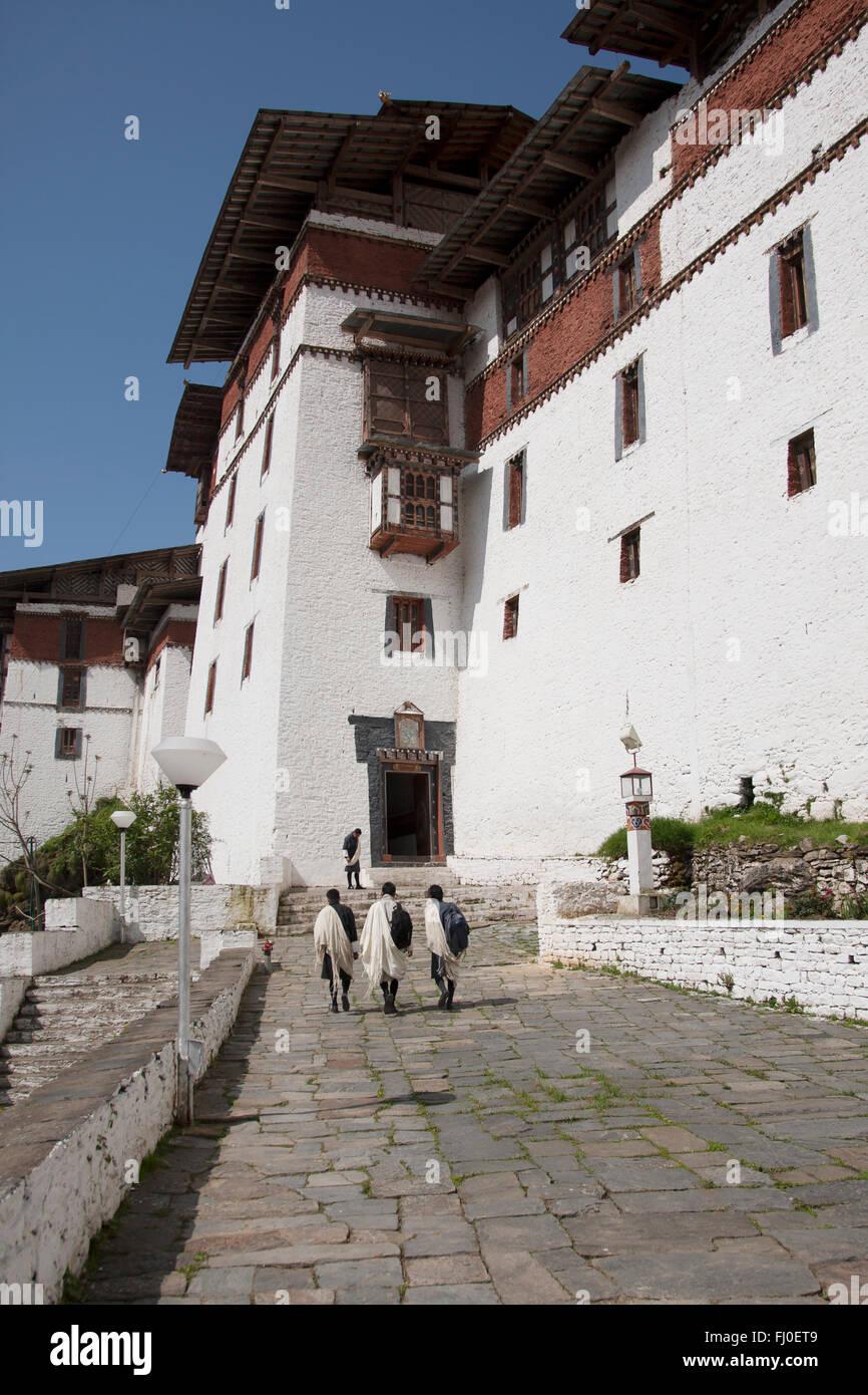 Trongsa Dzong in Bhutan - Stock Image
