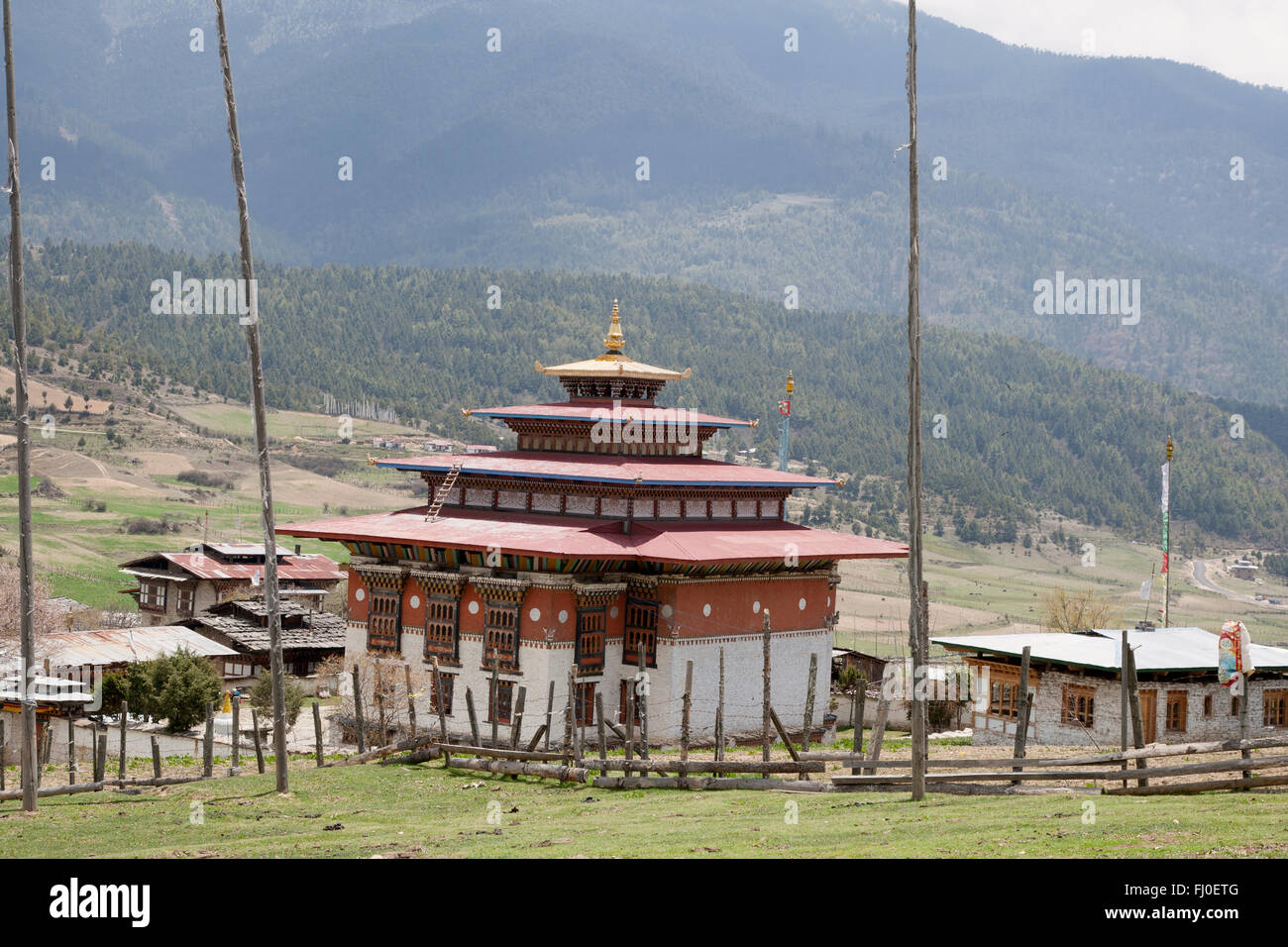 Ura Lhakhang, in central Bhutan - Stock Image