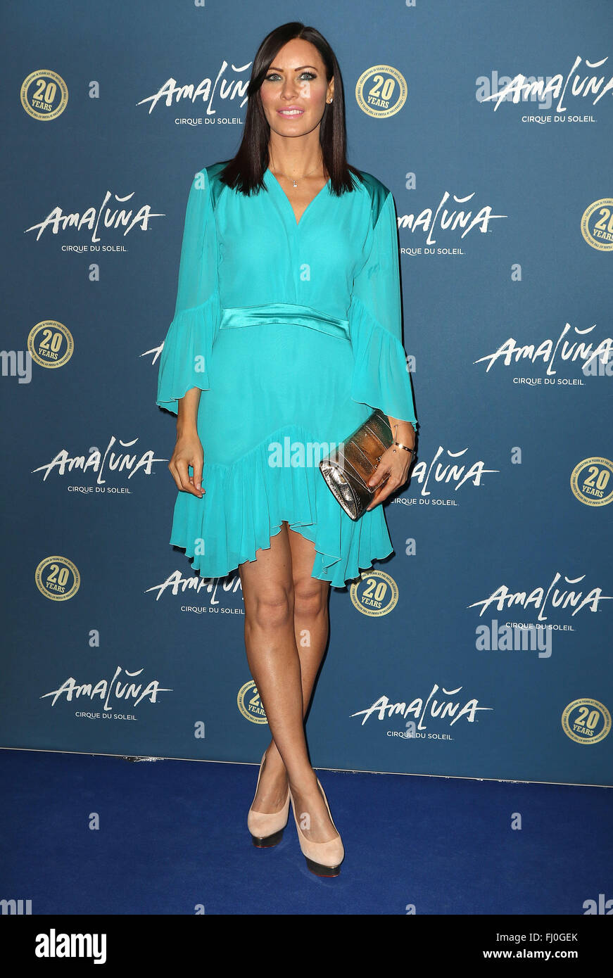 January 19, 2016 - Linzi Stoppard attending 'Cirque du Soleil: Amaluna' press night, Royal Albert Hall in - Stock Image