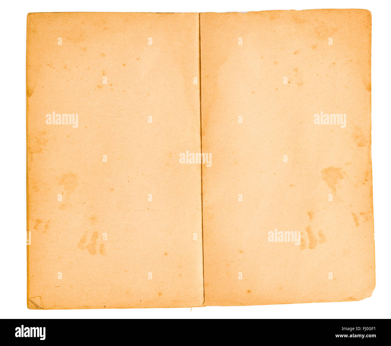 Blank Pages From Faded Book (XXL) - Stock Image