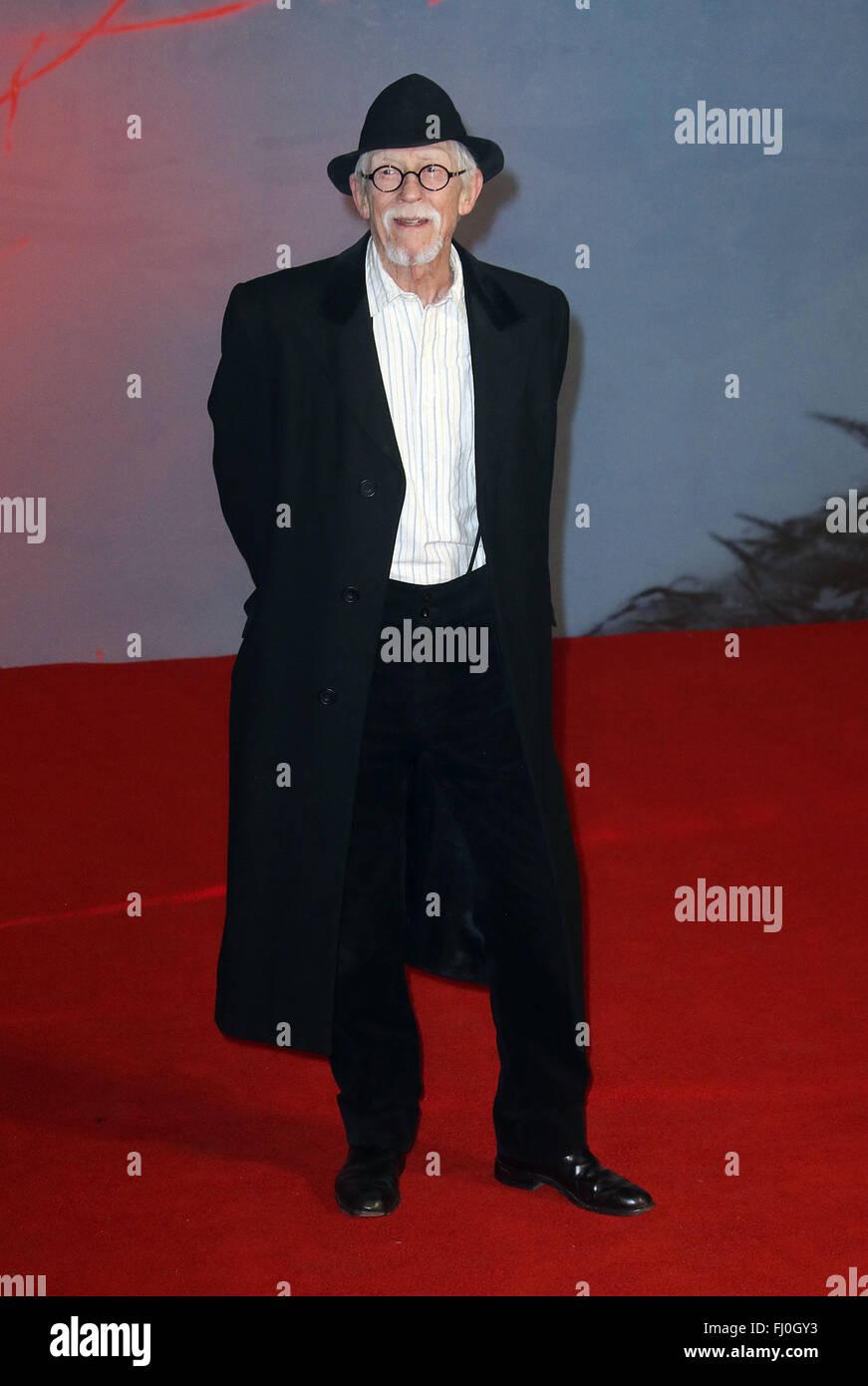January 12, 2016 - John Hurt attending The Revenant' UK Premiere at Empire Cinema, Leicester Square, London, - Stock Image