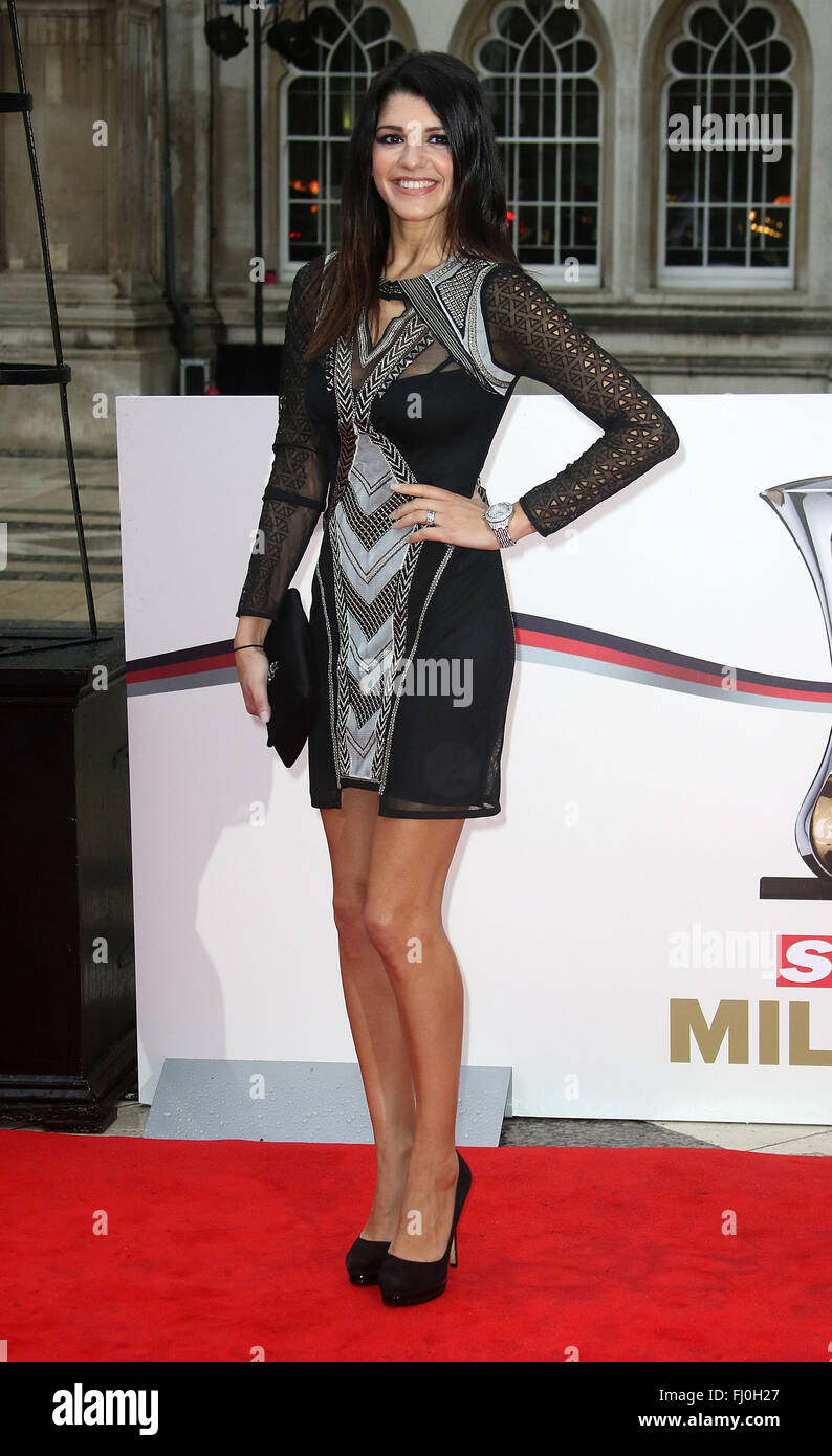 Jan 22, 2016 - London, England, UK - Natalie Anderson arriving at The Sun Military Awards, Guildhall - Red Carpet - Stock Image
