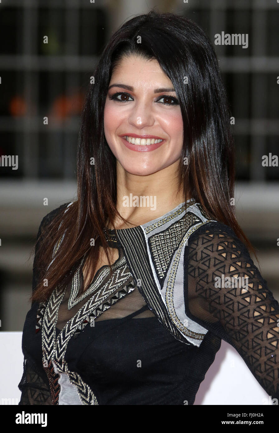 Jan 22, 2016 - London, England, UK - Natalie Anderson arriving at The Sun Military Awards, Guildhall - Red Carpet Stock Photo