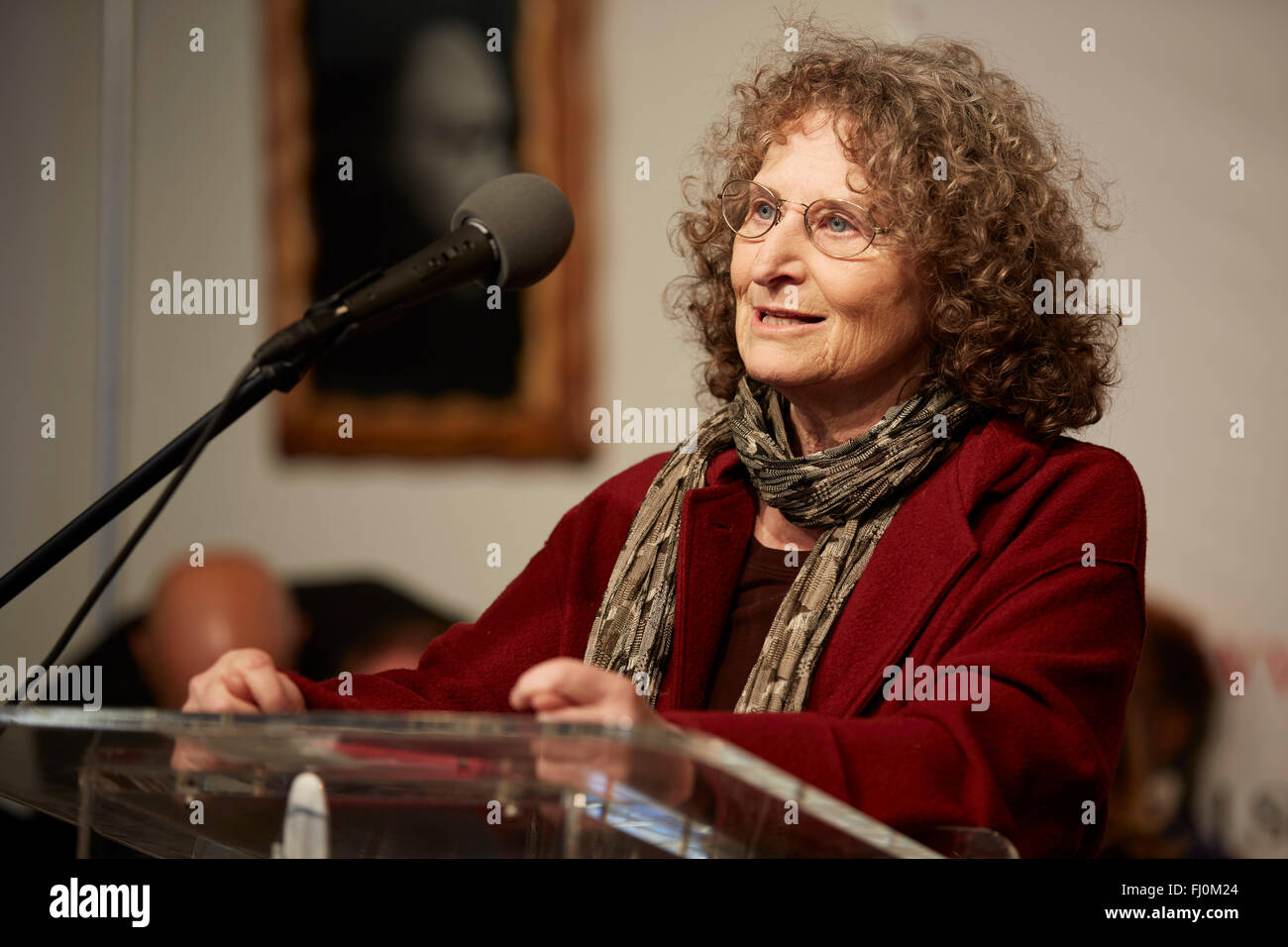 Donna Lieberman executive director of the New York Civil Liberties Union remarks NAN MLK Jr. House of Justice 18/1/16 - Stock Image