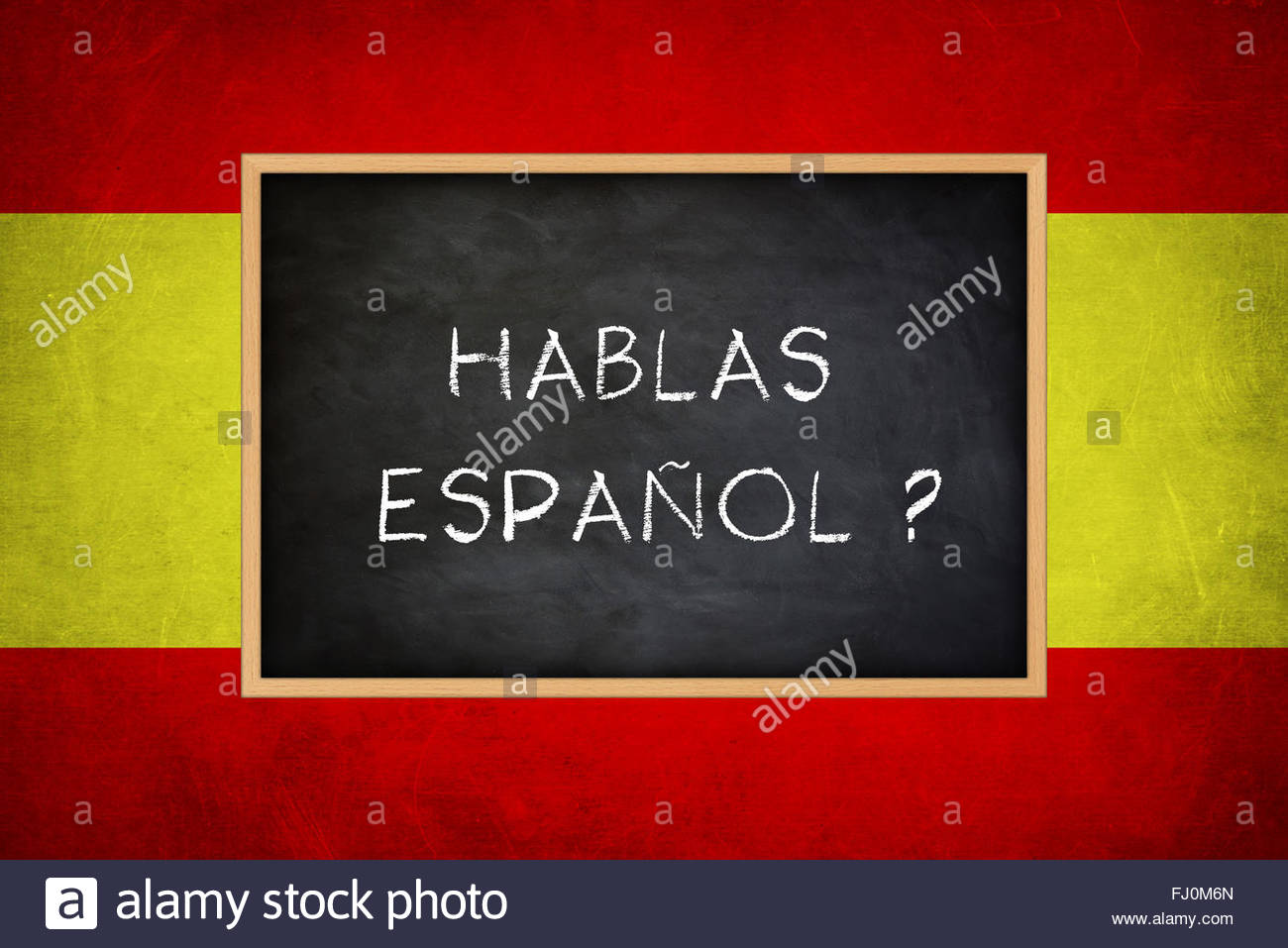 hablas espanol - Spanish language - Stock Image