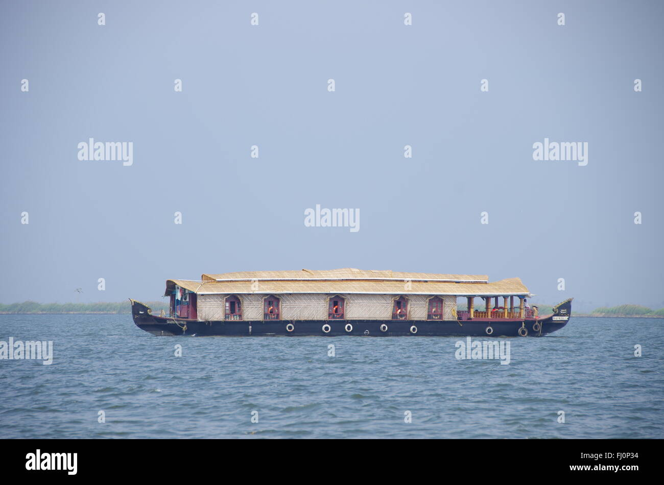 House Boat in Kerala , India - Stock Image