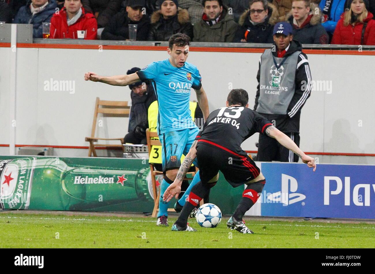 Munir el Haddadi during the champion league match Bayer Leverkusen - FC Barcelona December 9, 2015 in the Bay Arena,Leverkusen - Stock Image