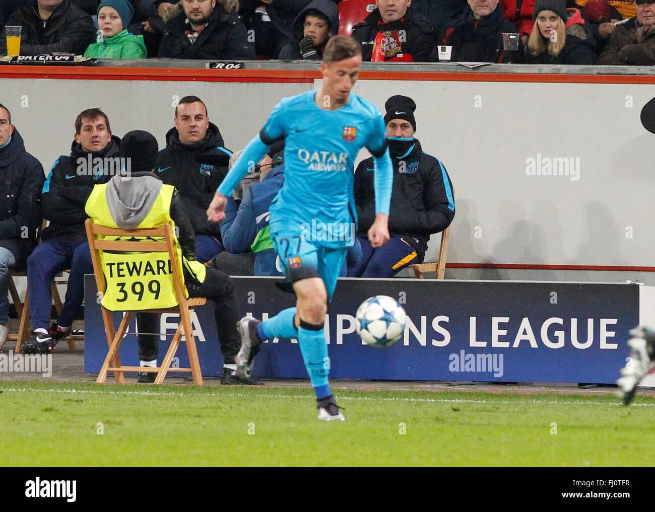 Juan Cámara during the champion league match Bayer Leverkusen - FC Barcelona December 9, 2015 in the Bay Arena,Leverkusen, - Stock Image