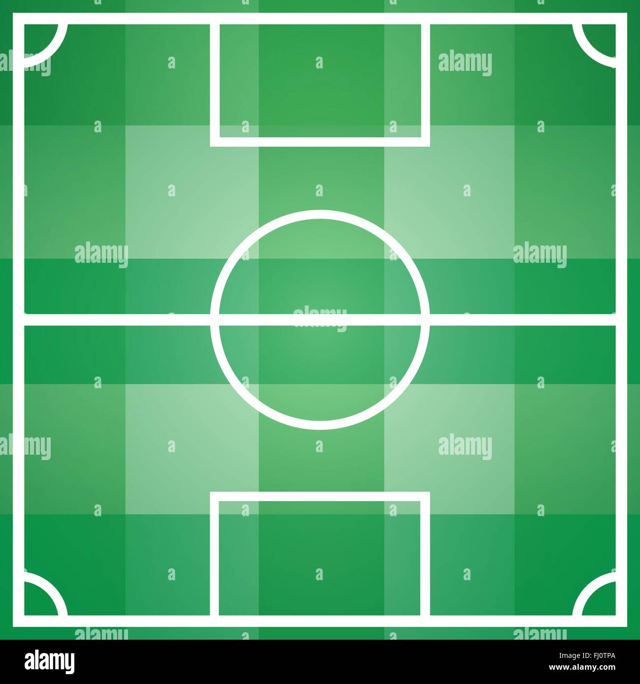 Soccer Football Game Field Template With All Main Parts Outdoor