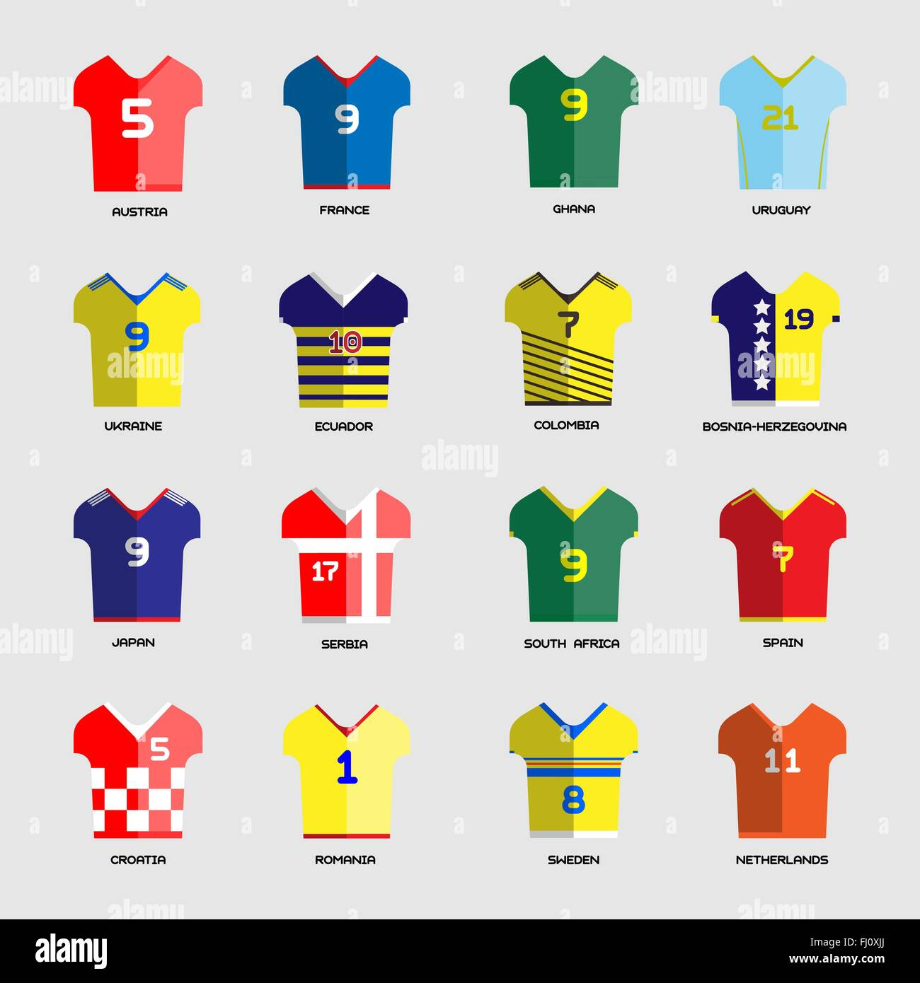 1b4be0157 Football Soccer Team Wear. Soccer club t-shirt set. Sports infographic.  Digital background vector illustration.
