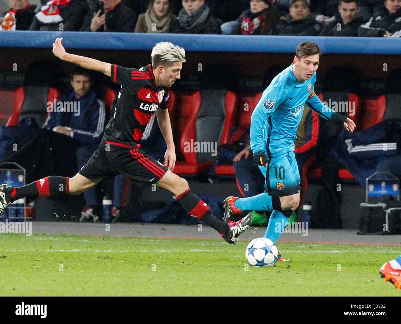 Kevin Kampl during the champion league match Bayer Leverkusen - FC Barcelona December 9, 2015 in the Bay Arena - Stock Image