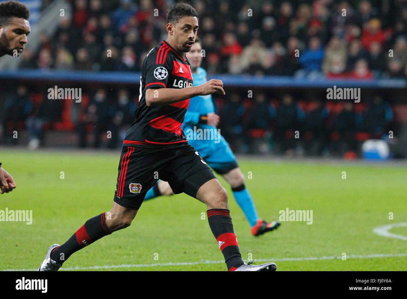 Karim Bellarabi during the champion league match Bayer Leverkusen - FC Barcelona December 9, 2015 in the Bay Arena - Stock Image