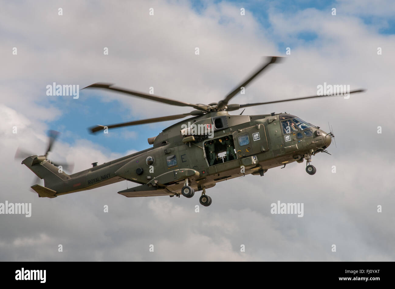 Agusta Westland Merlin HC.3 Helicopter of the British Royal Navy. - Stock Image