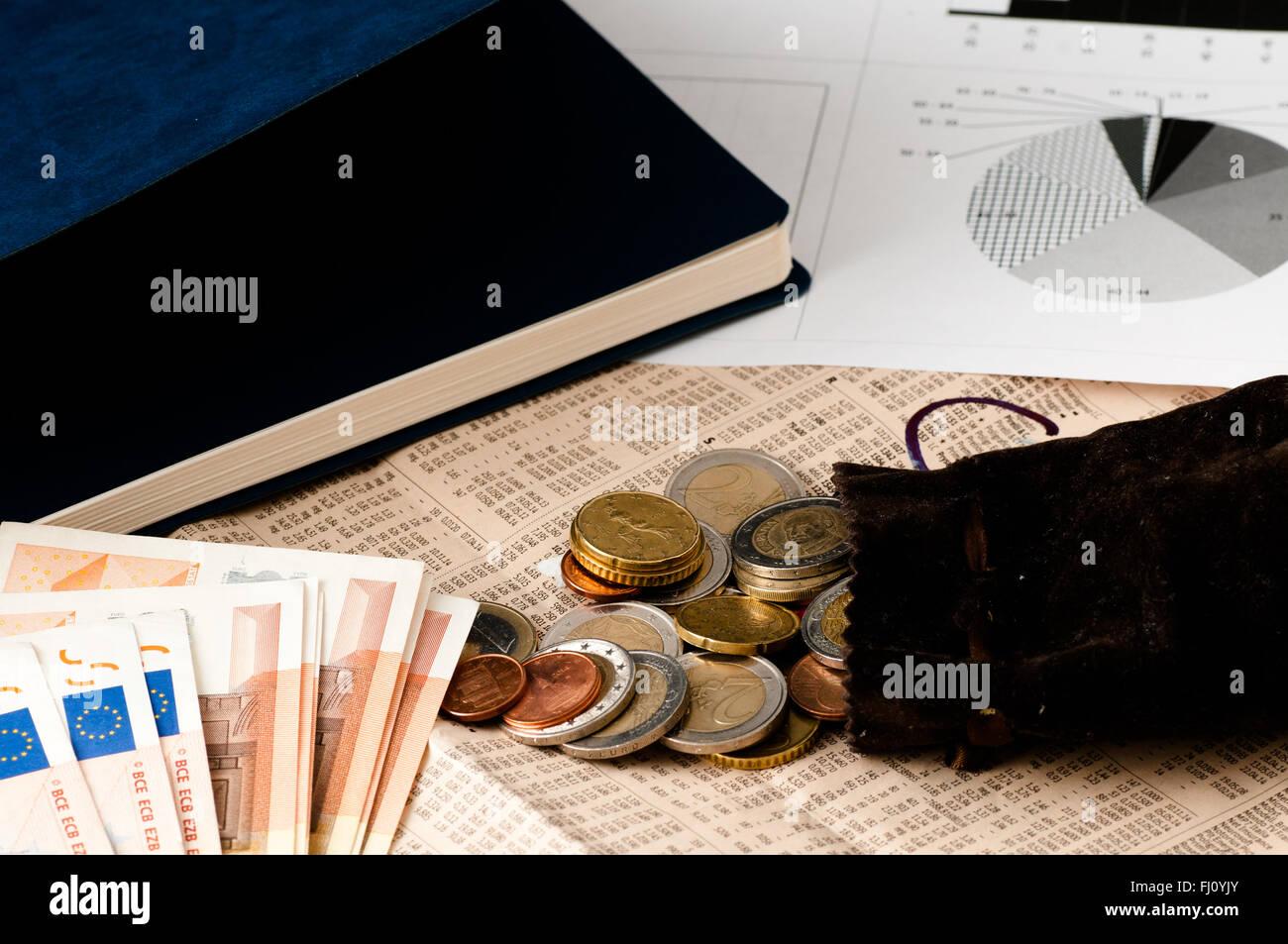 stock market investing their savings - Stock Image