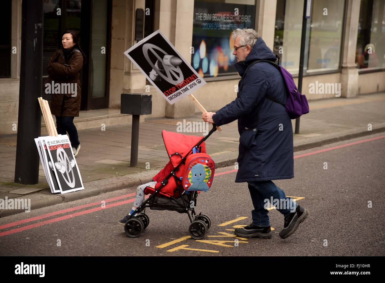 CND Anti Trident Protest rally, London, UK - Stock Image