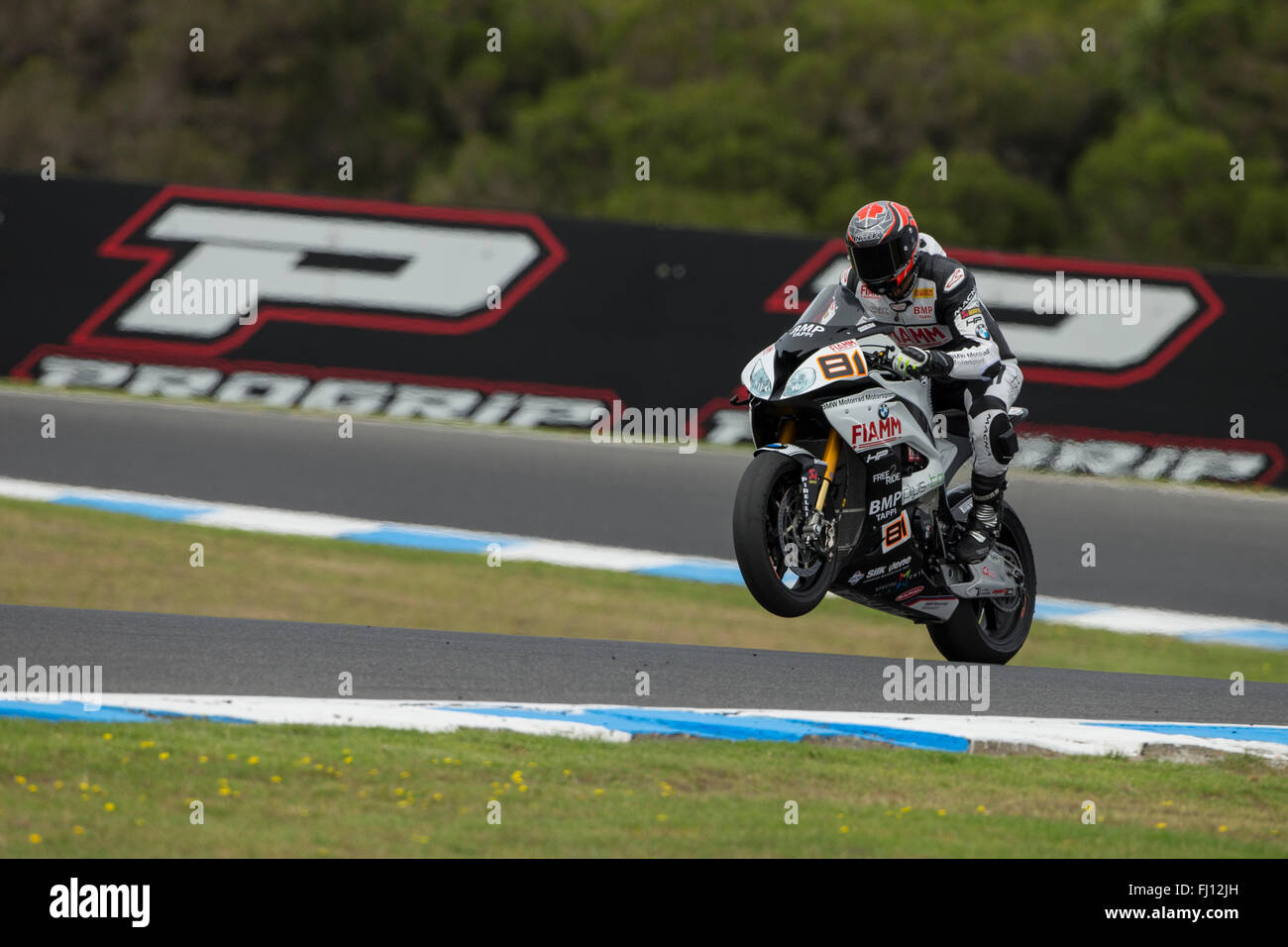 Philip Island, Australia. 28th Feb, 2016. Warm up. Jordi Torres, Althea BMW Racing. Credit:  Russell Hunter/Alamy Stock Photo