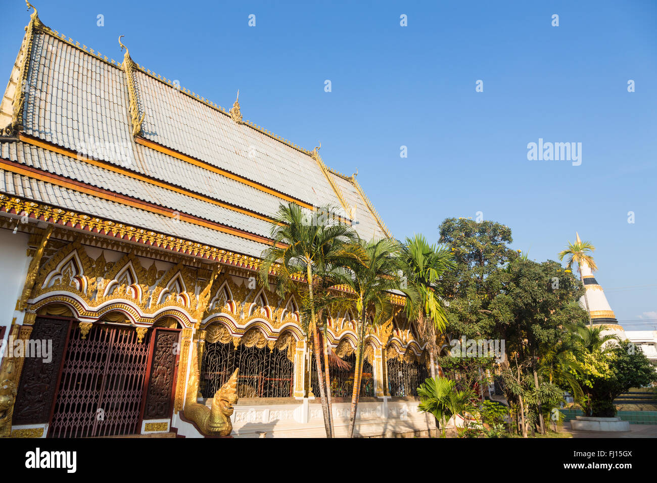 Wat Luang Pakse is a ancient Buddhist temple in Pakse in south Laos - Stock Image