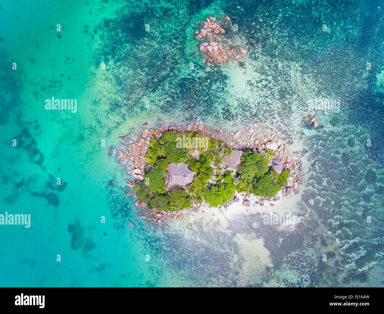 Seychelles, Praslin, Chauve Souris Island Stock Photo
