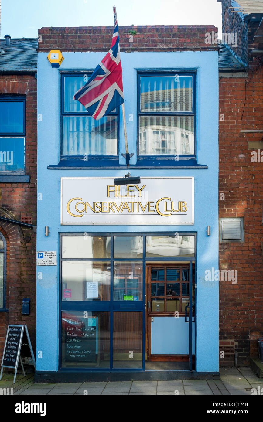 Filey Conservative Club, Filey North Yorkshire - Stock Image