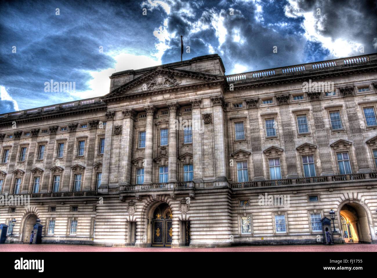 Buckingham Palace shot in High Dynamic Range (HDR) - Stock Image