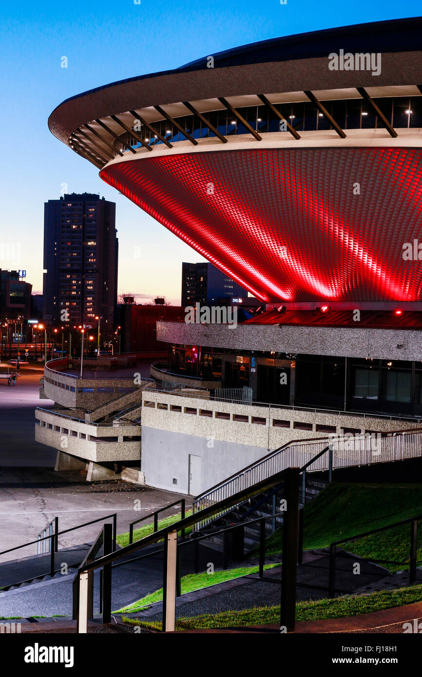 Spodek - a multipurpose arena complex in Katowice, Poland. Tourists destination - Stock Image