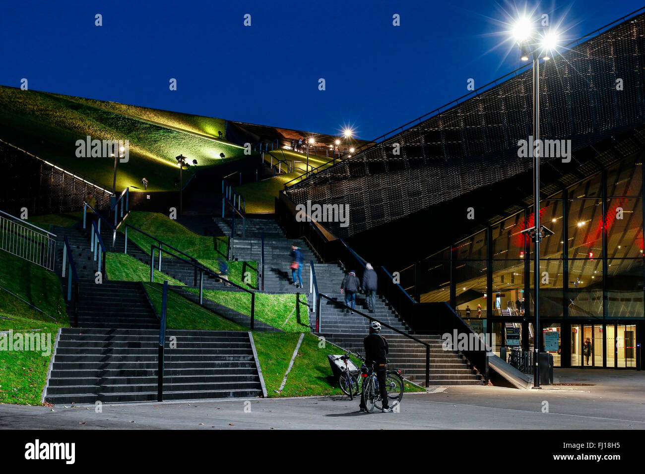Spodek - a multipurpose arena complex in Katowice, Poland. Tourists destination Stock Photo