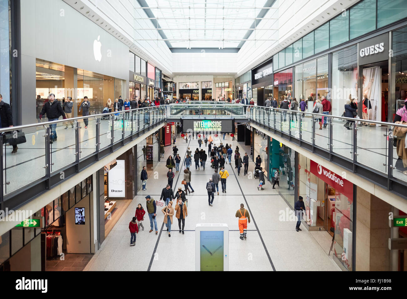 Manchester Arndale centre   Shops shopping shopper store retail precinct supermarket retailer retail retailers traders Stock Photo