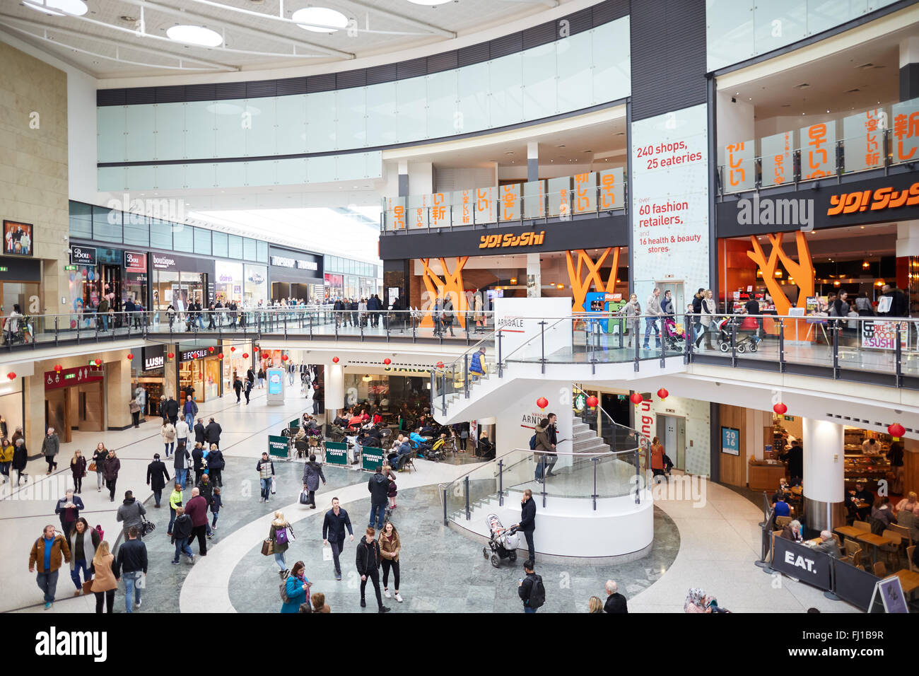 Manchester Arndale centre   Shops shopping shopper store retail precinct supermarket retailer retail retailers traders - Stock Image