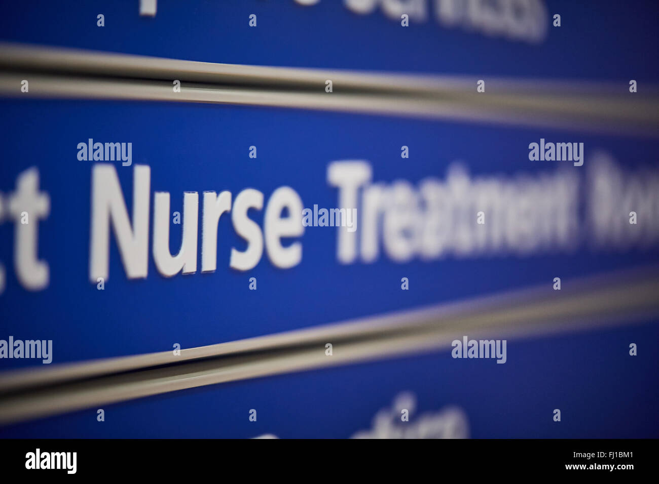 NHS national health service signs   Signage boards information notices Hospital wards corridors nurse nursing doctors - Stock Image