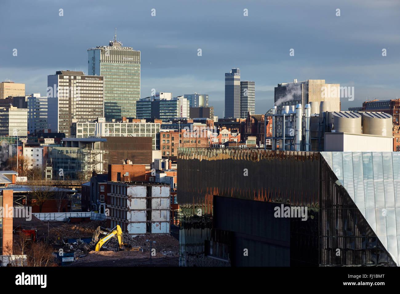 Manchester skyline view - Stock Image