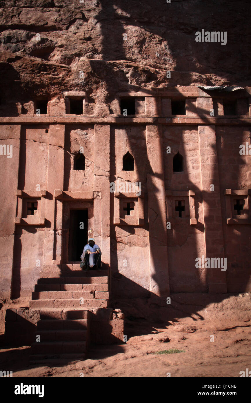 Rock-Hewn Churches, Lalibela , Ethiopia - UNESCO - Stock Image