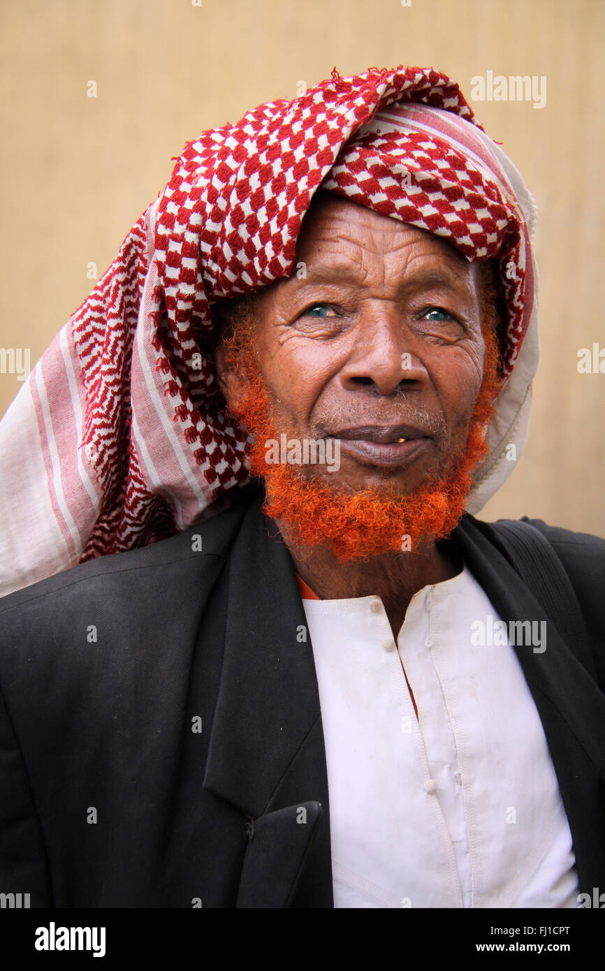 Old Muslim man sufi in Harar , Ethiopia - Stock Image