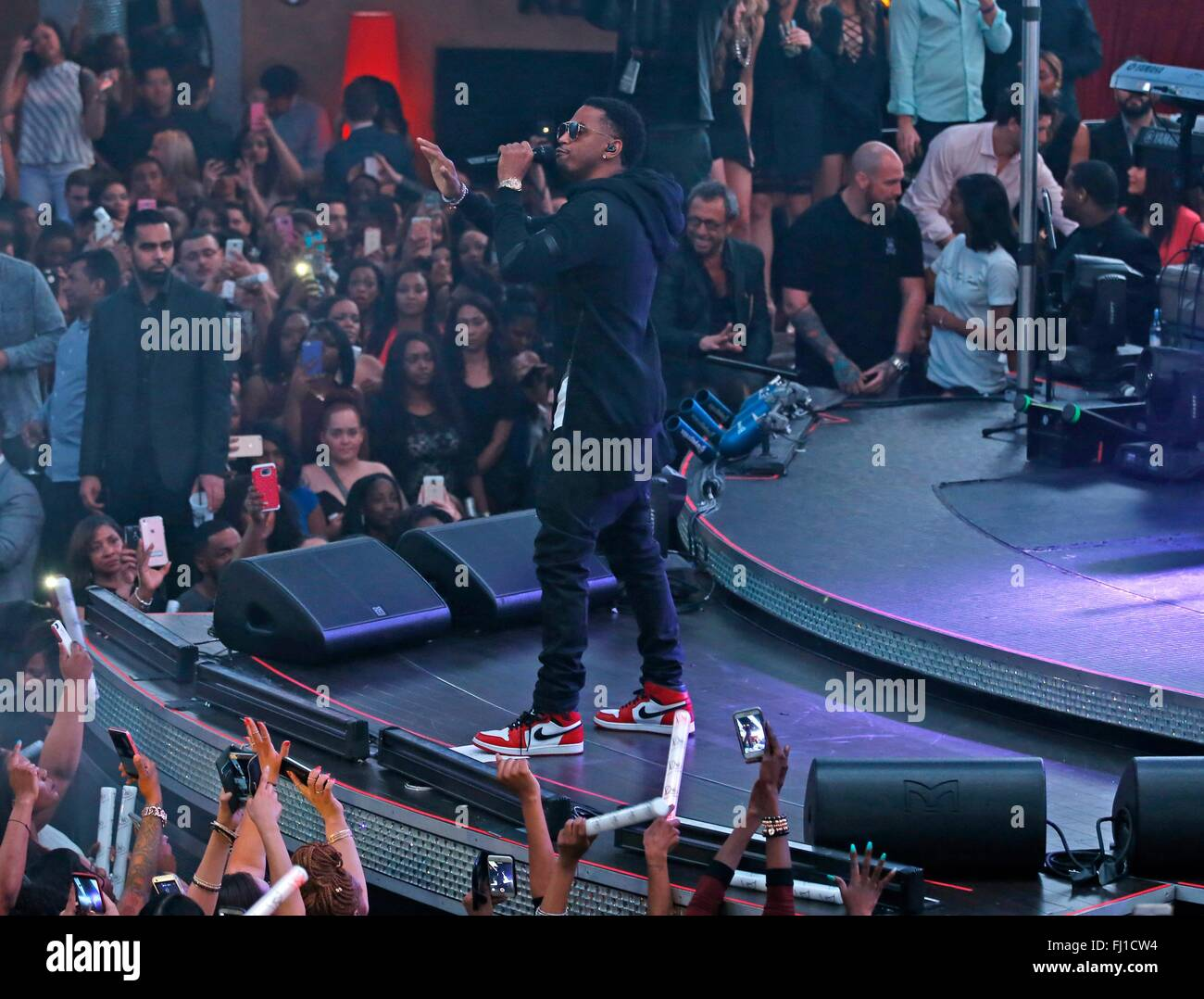 Las Vegas, NV, USA. 27th Feb, 2016. Trey Songz in attendance for Trey Songz Performs 'To Whom It May Concern' - Stock Image