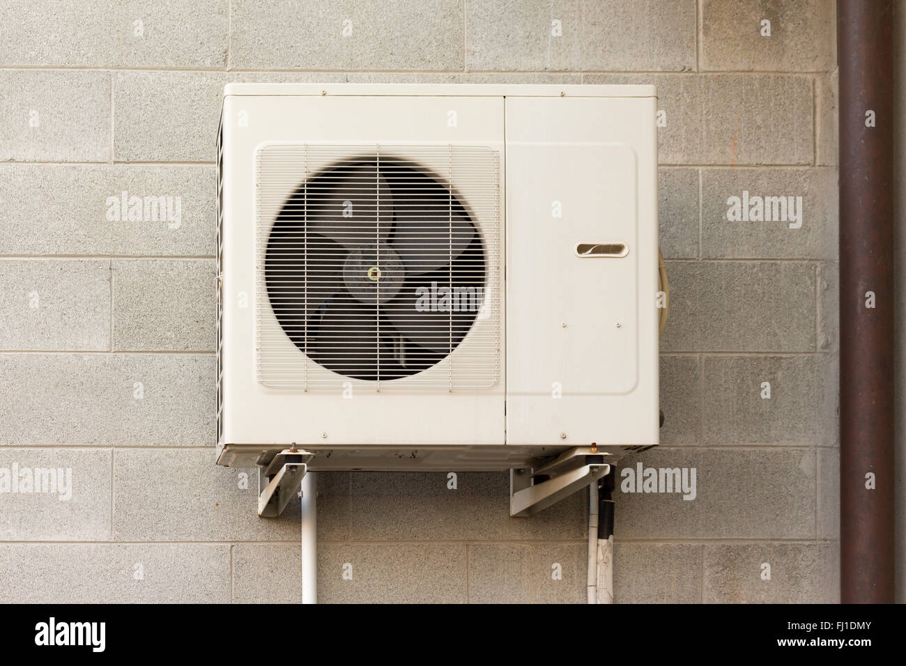 Air conditioning units for heating and cooling - Stock Image
