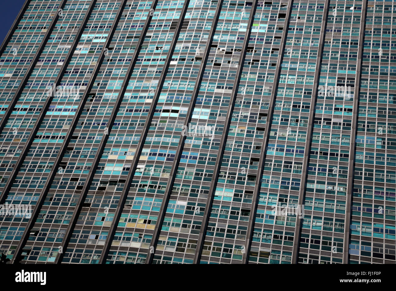 Colorful building in the center of São Paulo , Brazil - Stock Image