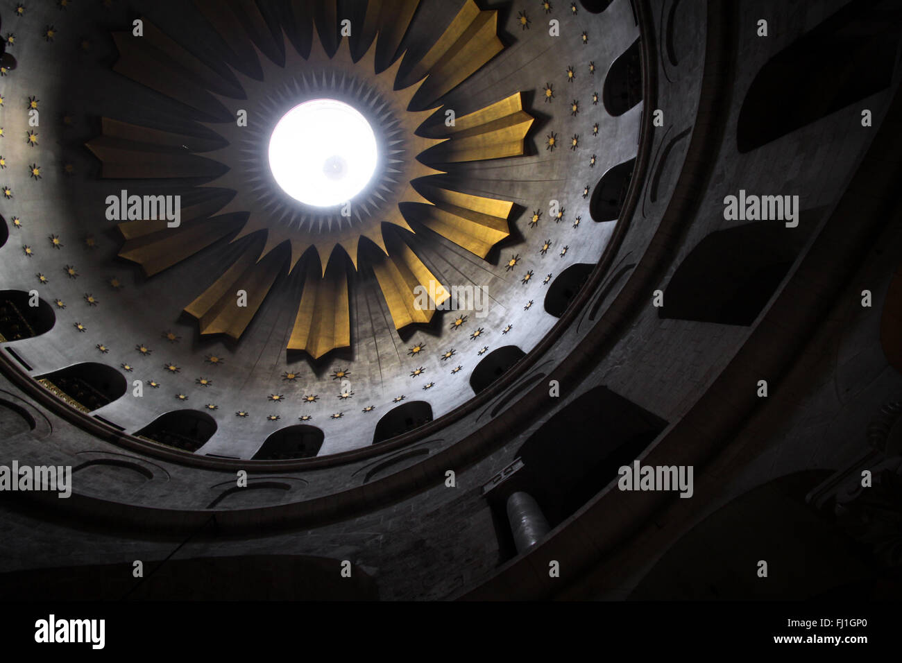 Dome of Church of the Holy Sepulchre , Jerusalem - Stock Image