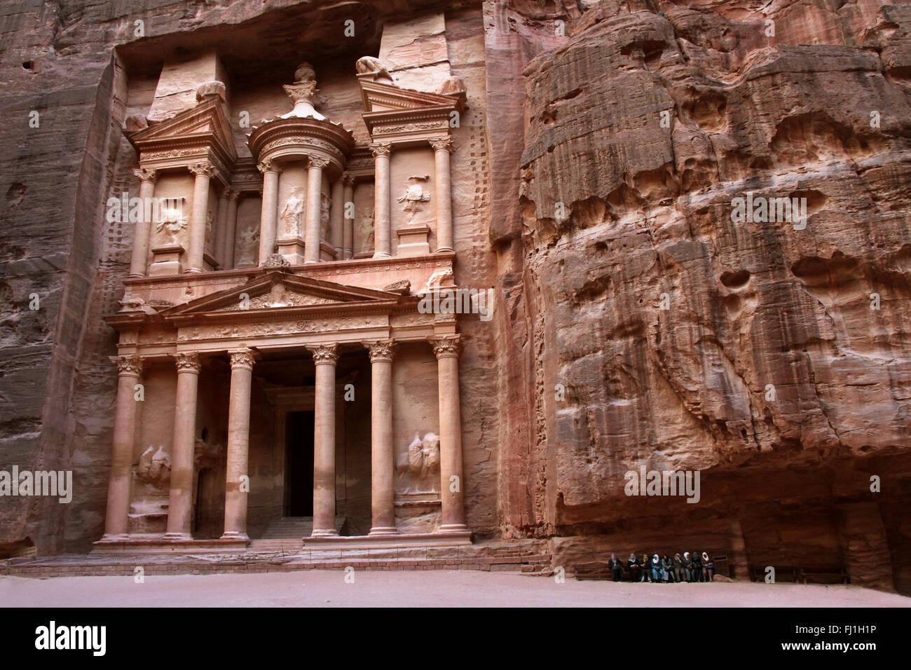 Al-Khazneh - The Treasury - Petra, Jordan - Stock Image