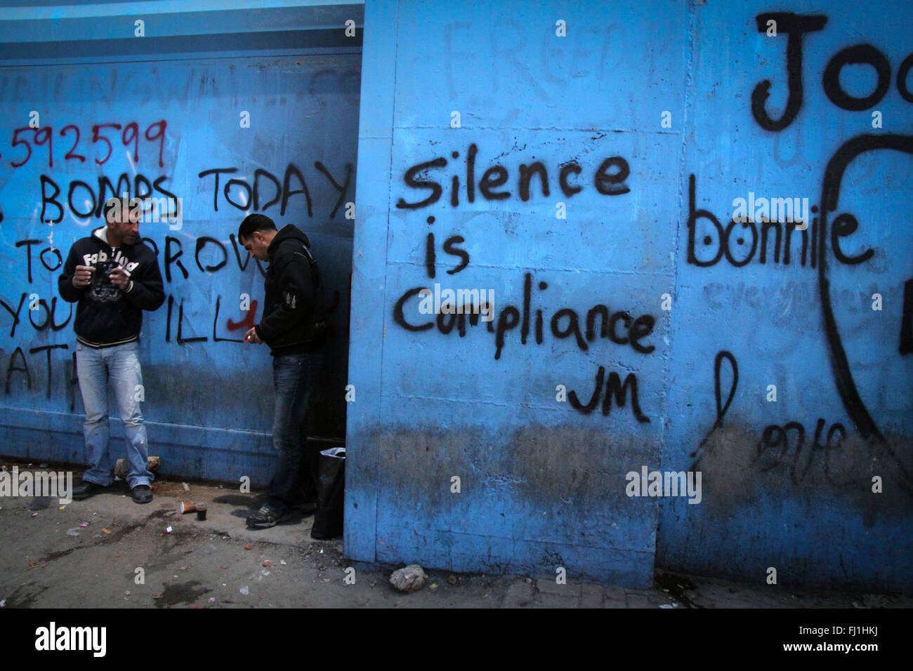 Palestine - Bethlehem checkpoint 300 and West Bank wall - Palestinian Occupied Territories - Stock Image