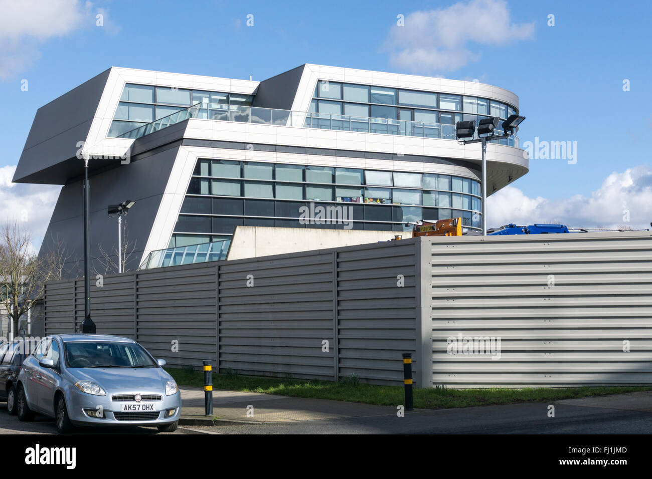 The Evelyn Grace Academy, designed by Zaha Hadid, won the Stirling Prize in 2011. Stock Photo