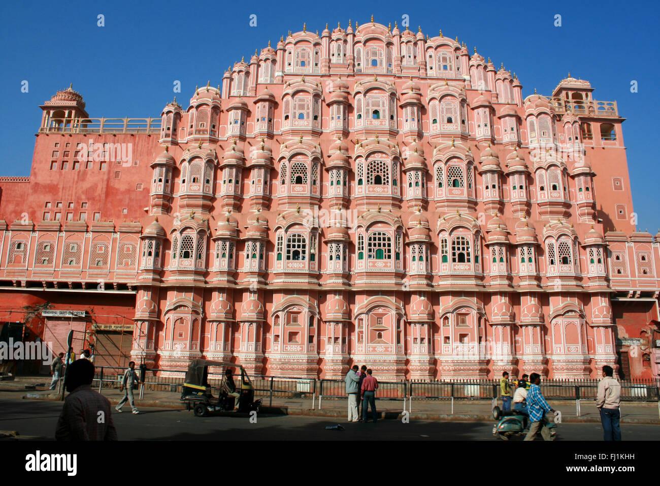 Hawa Mahal (Palace of wind), Jaipur India - Stock Image