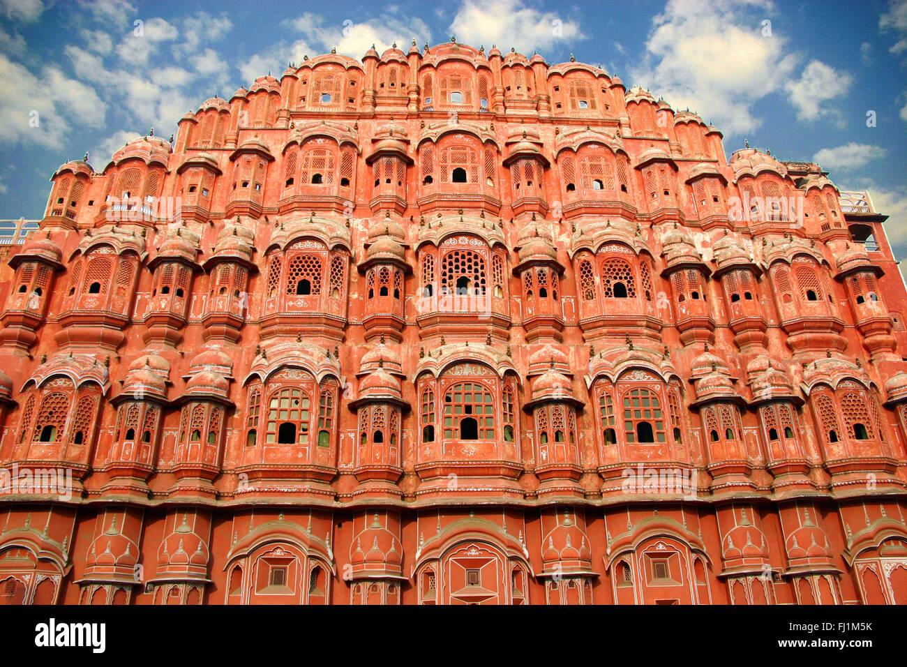 Hawa Mahal, Palace of Wind , Jaipur , Rajasthan , India (architecture) - Stock Image