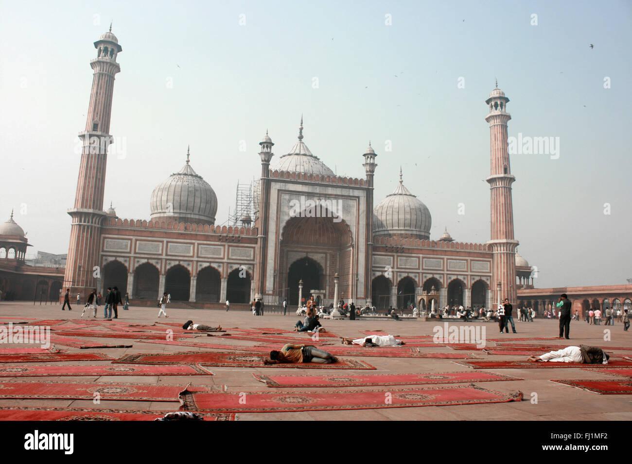 Jama Masjid (great mosque) of Old Delhi , India - Stock Image