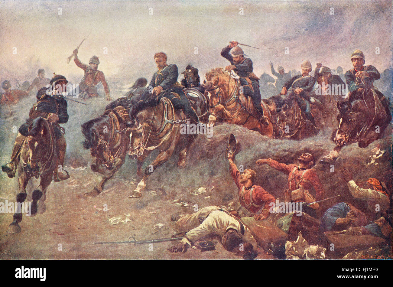 Battle of Tel-El-Kebir 1882 - Stock Image